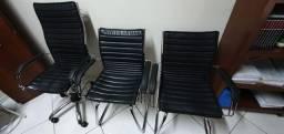 Jogo de cadeiras para escritório