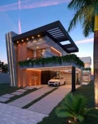Casa Alto Padrão no Alphaville Fortaleza com 457m² de Área Construída com Projeto Moderno.