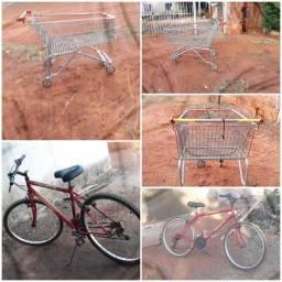 Título do anúncio: Vendo ou troco carinho de mercado e uma bicicleta normal