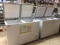 Freezer 410 litros tampa cega