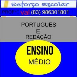 Reforço  de português e redação