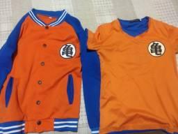 Kit casaco e camisa Dragon ball