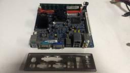 Placa Mãe Pci Mb P45 Atom Dual Core 330 V2 1.60Ghz 1.60Ghz