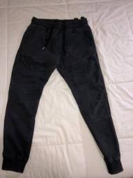 Conjunto calças moletom Zara + estilo militar