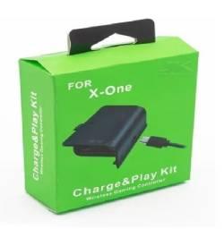 Bateria Para Controle Xbox 360 Com Cabo E Carregador Preto