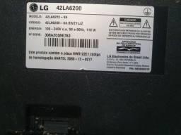 TV LG 42 polegadas tela quebrada