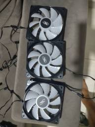 Kit 3 fans deepcool rgb