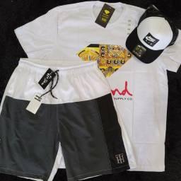 Camiseta+boné+shorts