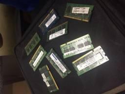 Varias memoria de notebook de 2 g, 4g funcionando