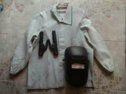 Jaqueta de solda+máscara+alicate