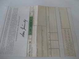 Certificado de garantia do rádio Grundig Mini-boy Transistor 200 antigo anos 1960 alemão