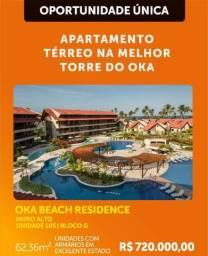 Oka Beach apartamento com 2 quartos na beira-mar de Muro Alto!
