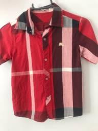 Camisa botão Burberry