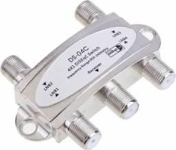 Chave DISEqC 4. Conecte até 4 antenas parabólicas em 1 receptor