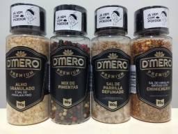 Kit C/4 Temperos Churrasco C/ Moedor Premium caseiro