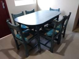 Conjunto de mesa cristaleira