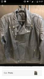 Jaqueta de couro masculina belle pelle