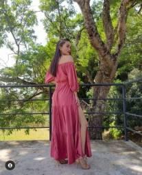 Título do anúncio: Vestido longo feminino rosé