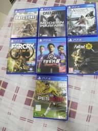 7 jogos de PS4 originais. ( Vendo separadamente )