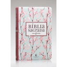 Título do anúncio: Bíblia Sagrada   NVI   Leitura Perfeita   Letra Normal   Tecido   Cerejeira