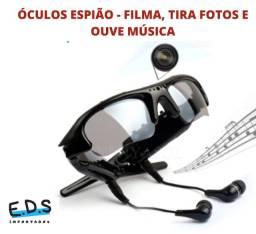 Título do anúncio: Óculos Espião Grava Áudio e Filma, Tira Fotos e Etc.