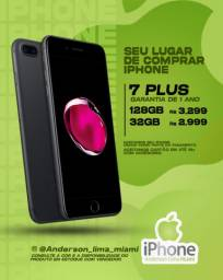 iPhone 7 Plus 32gb novo, aceitamos seu iPhone usado como parte do pagamento.