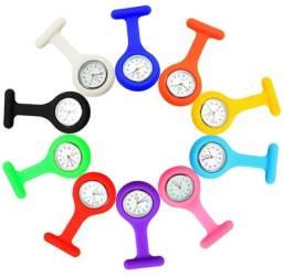 Relógio silicone p/ profissional saúde medico/enfermeiro/fisio bolso,Jaleco,Lapela