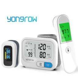 Kit médico - Termômetro Digital + Oxímetro + Medidor Pressão Arterial