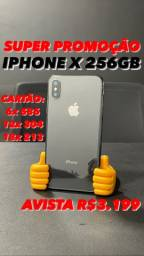iPhone X 256GB preto C/ garantia e carregador