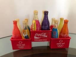 Coleção mini garrafa coca-cola Olimpíadas Atenas 2004
