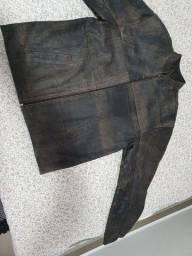 Jaqueta em couro legítimo modelo wolverine GG