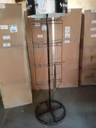 Vende-se 15 Expositor de chão para mercadorias em geral giratório fone *