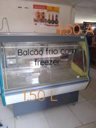 Balcão frio com freezer