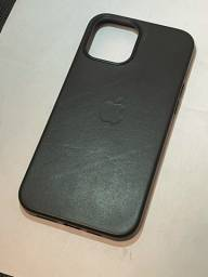 Capa de couro preta iPhone 12 Pro Max Magsafe