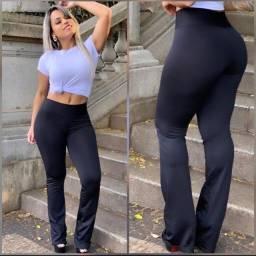 Calça Leggin Feminina Flare/Bailarina/Boca de sino Suplex Flanelada