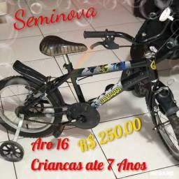 Bicicleta Infantil ARO16 - ate 7 anos