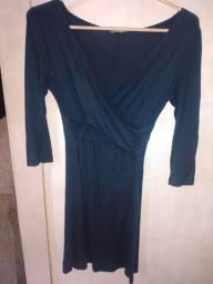 Vestido azul claro, vestido azul escuro, casaco, short, vestido branco