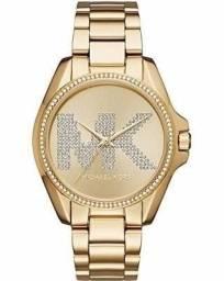12fa8ad56ac Relógio Michael Kors Mk6555 Dourado Mk Strass Ms26