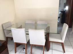 Mesa 6 cadeiras 1,80 por 90cm ( Preço Negociável)