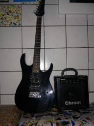 Guitarra com amplificadar