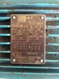 Motor Elétrico W22 IR2 2CV Trifásico rpm 1150 220-380V-Weg
