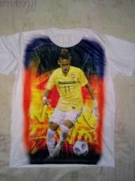 Camisa com estampa Neymar por 25