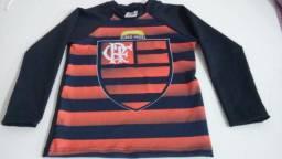 Camisa Térmica Infantil do Flamengo com proteção UV (Pedidos sob encomenda)