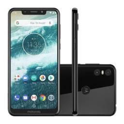 Motorola Moto One 64 GB; Preto; Lacrado; Copia NF