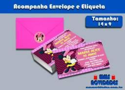 Convite Minie Rosa