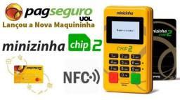 Maquininha Minizinha Chip 2 - Entrega Grátis (TEMOS ATACADO)