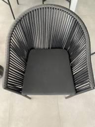 Cadeiras para salão de festas preta fosca