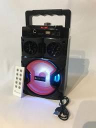 Caixa De Som Bluetooth Com Controle Remoto