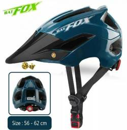 Capacete Bat Fox Mtb Bike Verde Regulável 56 A 62cm