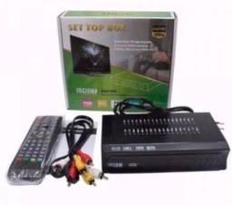 Conversor de tv digital set top box multimidia com gravador
